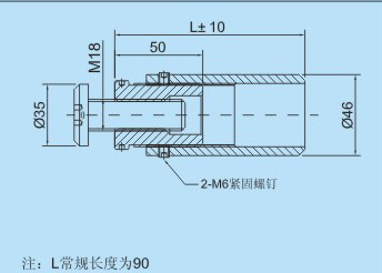 Z01幕墙转接件的CAD尺寸图