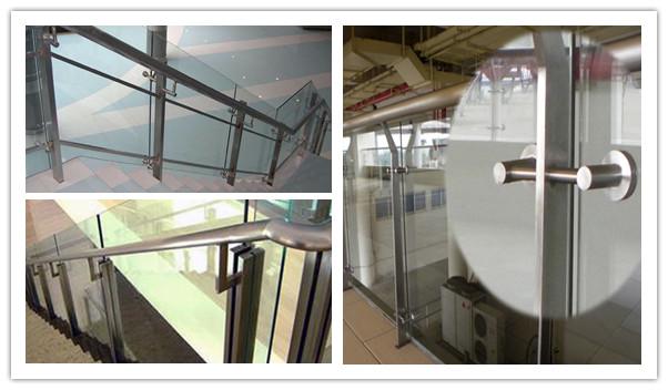 不銹鋼玻璃欄桿立柱廠家圖片大全