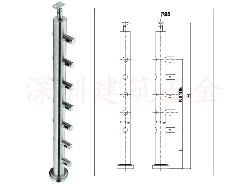 过索不锈钢栏杆立柱(G-LZ009)