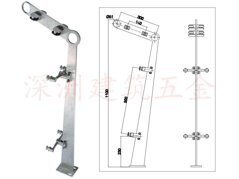 不锈钢栏杆立柱厂家定做(I-LZ509)