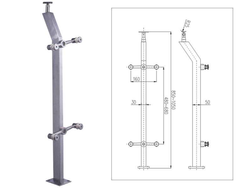 管型不锈钢栏杆立柱(G-LZ002)